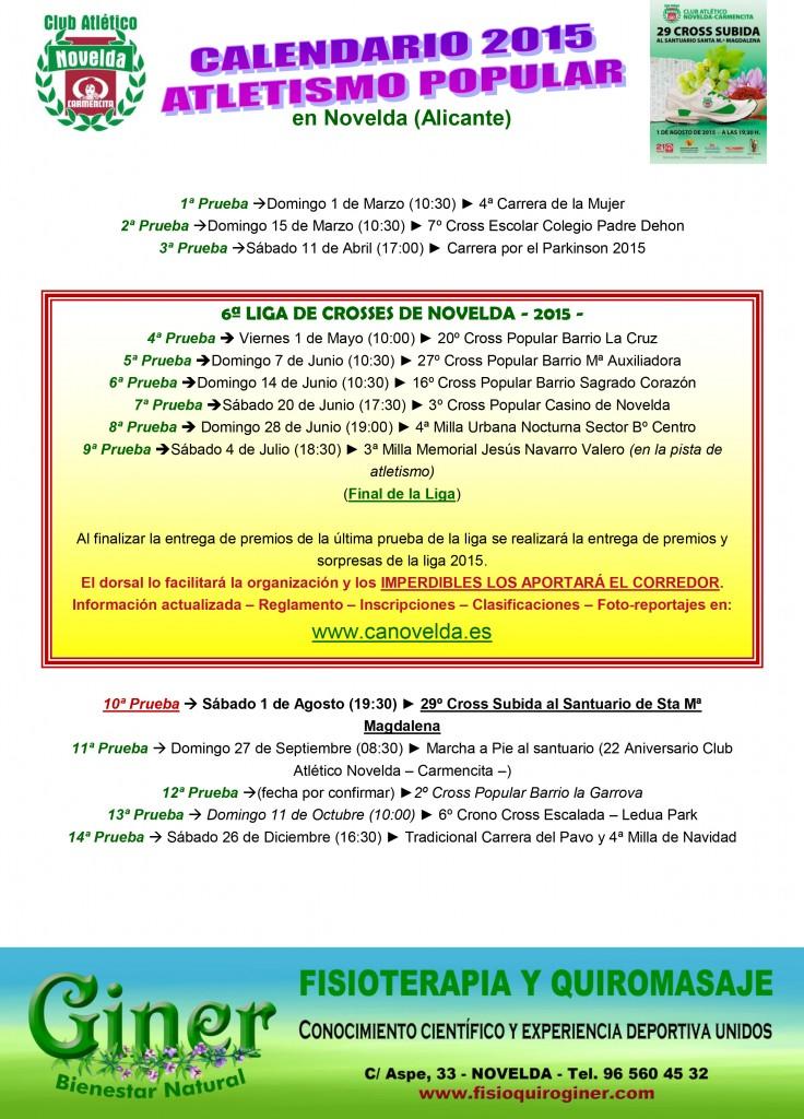 CALENDARIO PRUEBAS 2015 (color)